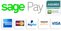 We accept Visa, Mastercard, American Express, Paypal and Amazon Payments for payments